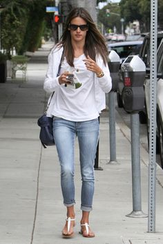 Alessandra Ambrosio, casual street style at it's finest