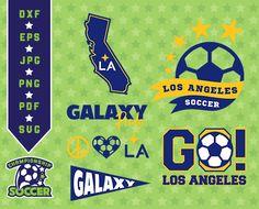 LA Galaxy Svg, logo clipart, Los Angeles Soccer, dxf, svg,pdf, jpg, eps files, cutting files, LA Galaxy clipart, soccer files, 03-MLS