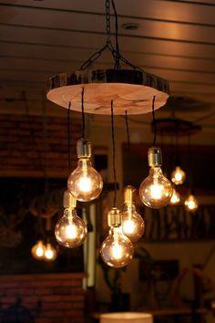 Reclaimed Farmhouse Lighting Fixture, Chandelier, Rustic Pendant Hanging Lighting (Pine Tree) - 5 Pendant Lights in 2020 Farmhouse Light Fixtures, Farmhouse Lighting, Rustic Lighting, Home Lighting, Diy Light Fixtures, Club Lighting, Kitchen Fixtures, Lighting Ideas, Vintage Light Fixtures