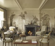 Classical Addiction Collection of Grisaille murals and paintings.