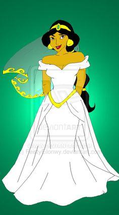 Disney Brides: Jasmine by FeistyEilonwy.deviantart.com