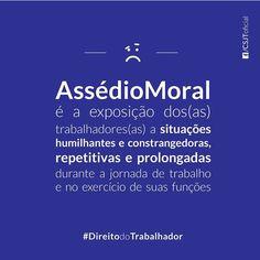 #fiquesabendo #direitos #trabalhador #empregado #emprego #trabalho #assédiomoral   Fonte: Conselho Superior da Justiça do Trabalho (CSJT)