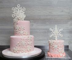 Birthday Cakes ⋆ Fancy That Cake custom cakery First Birthday Winter, 1st Birthday Party For Girls, Winter Birthday Parties, Girl Birthday Themes, First Birthday Cakes, Birthday Ideas, Winter Onederland Party Girl 1st Birthdays, Winter Wonderland Birthday, Wonderland Party