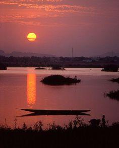 Bamako, Mali at sunset