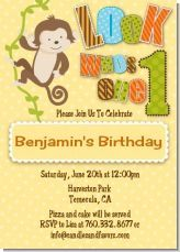 Mod Monkey Birthday Party Printables Package Blue Yellow Boy