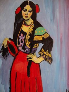 Espagnole au tambourin Matisse, Found on picasaweb.google.com via Aaron Smith