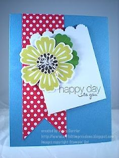 i STAMP by Nancy Riley--another card using Stampin Up's mixed bunch stamp set and coordinating blossom punch