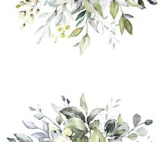 horizontal herbal banners on white background for wedding invitation, business products. web banner with leaves, herbs - Buy this stock photo and explore similar images at Adobe Stock Art Deco Invitations, Invitation Card Design, Wedding Invitation Design, Watercolor Wedding, Watercolor Flowers, Invitaciones Art Deco, Flower Pattern Drawing, Wedding Mirror, Herb Wall
