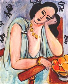 Color Theory Therapy| Serafini Amelia| Woman Resting on her Elbowsby Henri Matisse, 1943