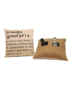 Take a look at this Grandpa Definition Pillow on zulily today!