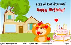 A beautiful e-greeting I received for my birthday from my sweetie pie