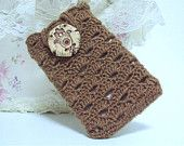 Personalized crocheted Phone Case Cell Phone Cover with Ceramic Decoration Covers for Phones Mobile Accessories