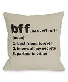 'BFF' Pillow - Set of Two #zulily #zulilyfinds