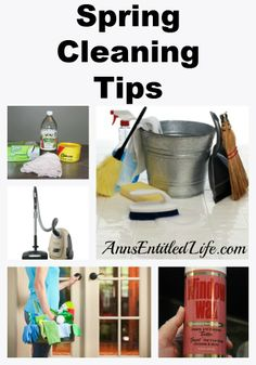 Spring Cleaning Tips - Spring Cleaning Tips and ideas for a faster, easier, more thorough spring clean.  http://www.annsentitledlife.com/library-reading/spring-cleaning-tips/
