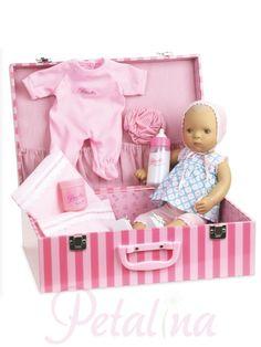 8b4fcf62208 Sylvia Natterer Bibichou Lilly in a Suitcase Vinyl Dolls