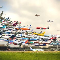 Awesome plane time lapse photo