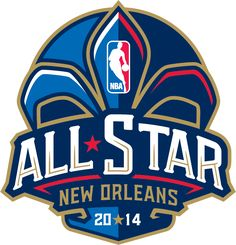 NBA All-Star Game Primary Logo (2014) - 2014 NBA All-Star Game Logo - Game played in New Orleans, LA.  Hosted by New Orleans Pelicans