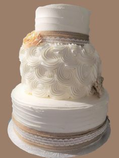 Rustic Cake, Rosettes, Wedding Cakes, Bakery, How To Make, Wedding Gown Cakes, Wedding Pie Table, Bakery Shops, Wedding Cake