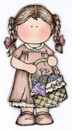 menina com cestinho