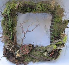 woodland frame.     would be awesome for an altar mirror
