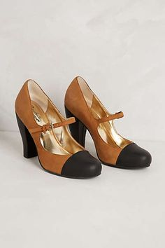 Anthropologie - Colorblock Mary Jane Pumps