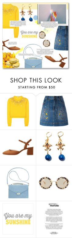 """Splatter Prints"" by fashionistalooks ❤ liked on Polyvore featuring Miu Miu, Alice + Olivia, MANGO, Hedone Romane, Olivia + Joy and modern"