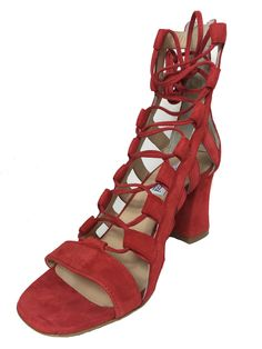 Slave women shoes suede red