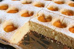 Fluffiger Marillenkuchen Rezept Brownie Bar, Dessert Bars, Mini Cakes, Tiramisu, Nutella, Baked Goods, Bakery, Cheesecake, Food And Drink