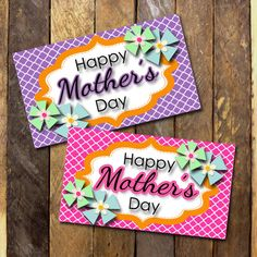 Hey, I found this really awesome Etsy listing at https://www.etsy.com/listing/187993236/happy-mothers-day-tags-10-2x35-cards