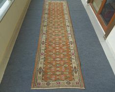 Turkish Runner, Oushak Runner, Turkish Runner Rug, Oushak Runner Rug, Kitchen Runner, Narrow Runner, Hallway Runner
