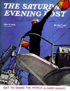 Saturday Evening Post - 1941-05-17: Naval Signal Corps (United States Navy Official Photo)