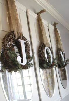 DIY Joy Wreaths Christmas Craft- perfect for decorating indoors or outdoors!