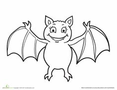 halloween vampire bat coloring pages | 34 Best Cute Spider images | Spider coloring page, Hand ...