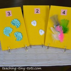 Toddler Books: Make Your Own Touch and Feel Counting Book from Teaching Tiny Tots