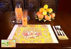Great pattern for placemats, fussy or not.