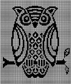 Cross stitch owl pattern Cross Stitch Owl, Just Cross Stitch, Cross Stitch Animals, Cross Stitch Charts, Cross Stitch Designs, Cross Stitching, Cross Stitch Embroidery, Cross Stitch Patterns, Crochet Bird Patterns