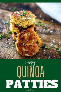 If you love meals that leave the whole family happy, you are going to love these Crispy Quinoa Patties.  This healthy gluten free recipe is so full of flavor. I am so happy that I found this deliciously easy meal.  #lglutenfree #glutenfree #health #quinoacakes #quinoapatties Best Quinoa Recipes, Healthy Gluten Free Recipes, Great Recipes, Dinner Recipes, Crispy Quinoa, Muffin Tin Recipes, Patties Recipe, Vegan Options, Salmon Burgers