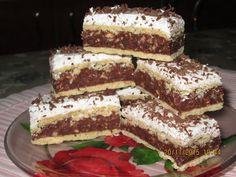 Romanian Desserts, Romanian Food, Dessert Cake Recipes, No Bake Desserts, Good Food, Yummy Food, Sweet Treats, Deserts, Food And Drink