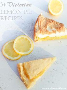 5+ Victorian Lemon Pie Recipes - Vegan & Vegetarian Ice Cream Desserts, Ice Cream Recipes, Pie Recipes, Vegan Recipes, Lemon Pie Recipe, Natural Food Coloring, Vegan Cake, Original Recipe, Summer Drinks