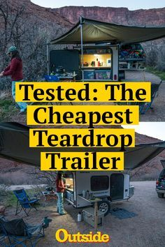 This teardrop trailer from Hiker Trailer costs under $5,000—a steal compared to most other trailers. But does it have enough amenities to make it better than the pricier competition? #trailer #trailers #camping #adventuremobile