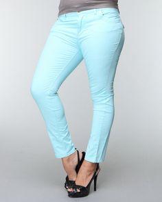 Colored skinny pant