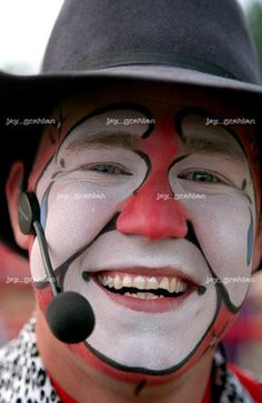 Photo by Jay Grabiec.  Rodeo Clown is Dusty Myers from Corinth, MS, USA.