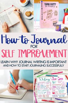 How to Journal: Learn how journaling will help you improve yourself through self care, reflection, mindfulness, and creativity. Journal writing helps with mental health, so this journaling guide for beginners is perfect for everybody. Dot Grid Notebook, Bullet Journal Notebook, Bullet Journal Ideas Pages, Journal Entries, Journal Pages, Bullet Journals, Journal Layout, Types Of Journals, Art Journals