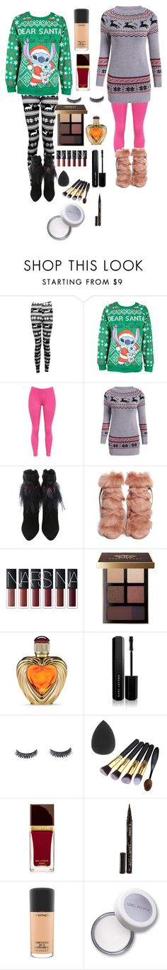 """""""Ugly sweater party"""" by peypeyp2005 ❤ liked on Polyvore featuring Boohoo, Disney, WithChic, Gianvito Rossi, Bobbi Brown Cosmetics, Victoria's Secret, Marc Jacobs, Tom Ford, Smith & Cult and MAC Cosmetics"""