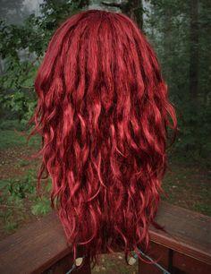 Burgundy Wine Dark Red Synthetic Dreadlock Wig Red Wig