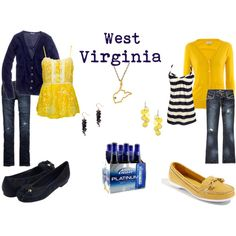 I think I belong in West Virginia! Thirty One New, Tailgate Outfit, Tailgating Outfits, Style Me, Cool Style, West Virginia University, Cool Outfits, Fashion Outfits, Look Cool