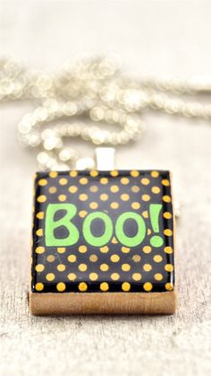 2014 Halloween Boo IPhone 6 Plus Wallpapers   Necklace