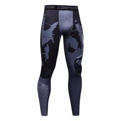 bb5ff00b25 Mens Workout Fitness Compression Leggings Pants Bottom MMA Men Crossfit  Weight Lifting Bodybuilding Skin Tights Trousers S-XXXL