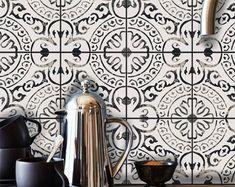 Bristol Kitchen Bathroom Backsplash Tile Wall Stair Floor | Etsy Peel And Stick Tile, Stick On Tiles, Flooring For Stairs, Vinyl Flooring, Tile Decals, Wall Tiles, Bathroom Tile Stickers, Denpasar, Vinyl Wallpaper
