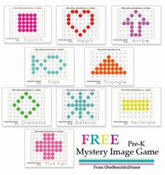 I am stopping in today with a fun printable for you and your kiddos! I created this Mystery Image Game for Greyson, and he had a blast doing them yesterday. He used Do-A-Dot makers, but you can have older children use crayons to color in the circles. Stickers (like the ones you see at yard ...